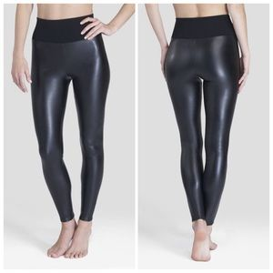 Assets by Spanx Faux Leather Shaping Leggings